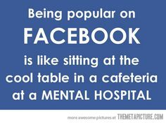 Being popular on Facebook�
