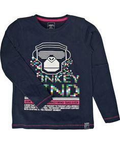 Fantastique T-shirt bleu avec singe DJ par Name It #emilea