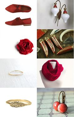 Red and gold by Loula on Etsy--Pinned with TreasuryPin.com
