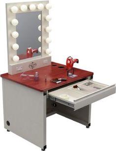 lighted vanity makeup desk.  broadway lighted vanity desk Broadway Lighted Vanity Makeup Desk Mugeek Vidalondon