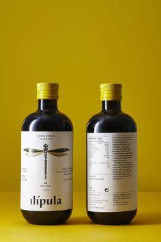 Olive Oil Dragonfly Packaging Label Design