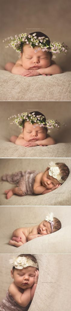 LAKE OF THE OZARKS NEWBORN PHOTOGRAPHY CHERRYBIRD STUDIO, newborn floral crown, real floral crown, newborn girl flowers