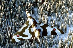 With the increasing sophistication of Soviet air defence (particularly missile technology) the idea of a high altitude attack on the Soviet Union was abandon for low level attack. The V bombers lost their anti flash white for low camouflage. While the camouflage patten never looked effective over Britain, as it was designed to make the aircraft difficult to see high while flying over snow covered Eastern Europe.
