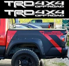 TRD 4x4 OFF ROAD Toyota Tacoma Tundra 2016 Vinyl Bed Side Decals Stickers 2x