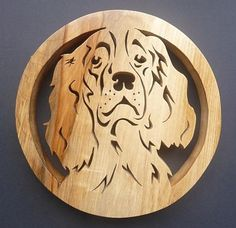 This lovely Springer spaniel trivet is the perfect gift for any dog lover!-) ) Hand cut with a fret saw from Scottish sourced hardwood,treated with Danish oil to withstand heat. Springer Spaniel, Cocker Spaniel, Celtic, Eagle Silhouette, Fret Saw, Wood Craft Patterns, Animal Doodles, Glass Bottle Crafts, Woodworking Projects That Sell