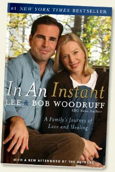 """In An Instant by Lee and Bob Woodruff.    Brain injury awareness is so important; but unfortunately, most people don't give a thought to brain injury---until its all that they think about.     """"Awareness costs nothing, but brain injury could cost someone everything""""  ~Kimberly Carnevale  Speaker/author/brain injury survivor  www.TheButterflyExpress.com"""