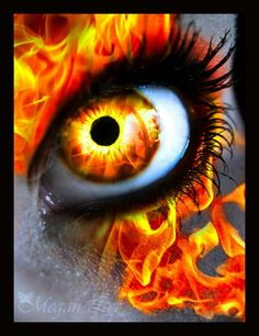 Fire Eye by MEGAN Yrrbby 30 Stunning, Absolutely Magical Photo Manipulations Focusing on Human Eye Pretty Eyes, Cool Eyes, Beautiful Eyes, Amazing Eyes, Gif Kunst, Fire Eyes, Eye Pictures, Wierd Pictures, Eye Images