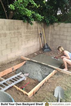 Screeding And Magging The Concrete Slab