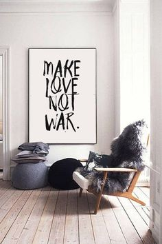 Make Love Not War Framed Quotes Quote Prints Inspirational