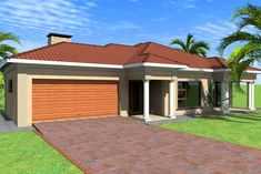 Overall Dimensions- X MBathrooms- 4 Garages- 2 Car GarageArea- Square meters Tuscan House Plans, My House Plans, Family House Plans, Beautiful House Plans, Beautiful Homes, Single Storey House Plans, Muscle Food, Square Meter, Bedrooms