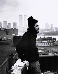 """Serpico"" (1973) - Al Pacino. Notice the Twin Towers in the background."