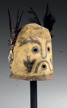 Masque de Kachina QOQLO ou KOKLO Kachina HOPI, Arizona, USA Circa 190