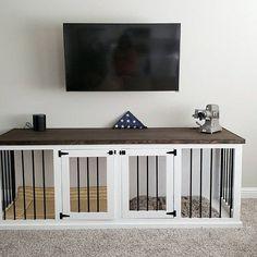 (paid link) diy dog crate divider #diydogcrate Metal Dog Kennel, Custom Dog Kennel, Wooden Dog Kennels, Dog Kennel Cover, Diy Dog Kennel, Puppy Kennel, Kennel Ideas, Double Dog Crate, Large Dog Crate