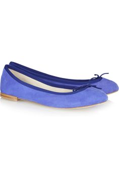 Repetto ballet flats in blooming blue.