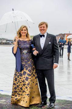 Koningin Máxima draagt japon Claes Iversen