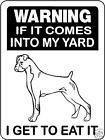 BOXER DOG SIGN V3076 #BoxerDog