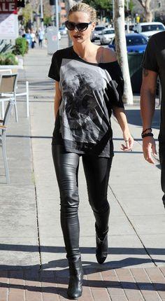 Heidi Klum in Leather Pants -11
