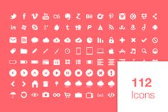 Check out 112 Super Awesome Icons by Jamie Peak on Creative Market