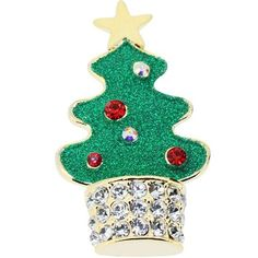 Christmas Tree Pin Swarovski Crystal Chrismtas Pin Brooch Fantasyard. $9.59. Other color available. Gift box available for an additional fee. Please check out through gift-wrap option. Exquisitely detailed designer style. Save 52%!