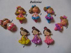 [Inspiration] Ballerina Polymer Clay Embellishments, via Etsy.