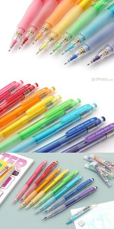 Using a mechanical pencil doesn't have to mean limiting yourself to plain gray lead! The Pilot Color Eno mechanical pencil is available in eight bright colors, each with matching colored lead. The colored leads are smudge-resistant and easy to erase—perfect for drawing and sketching!