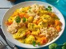 Fisch-Curry in Kokossoße