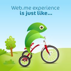 Creating a website with web.me is just like riding a bicycle. It comes naturally and you never forget how to do it.