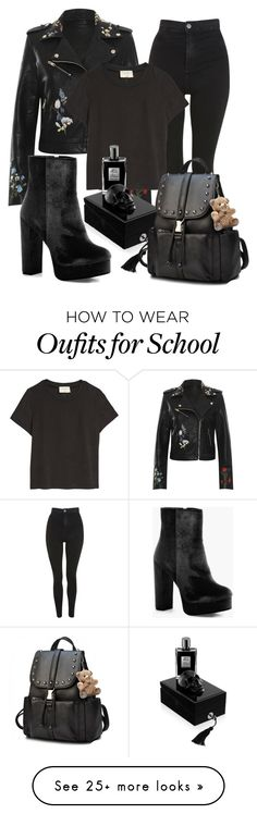 """""""B l a c k"""" by andichan on Polyvore featuring WearAll, Topshop, Boohoo, Kilian and allblackoutfit"""
