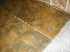 LastiSeal Stain faux finished on concrete floor.