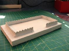 Putz House base tutorial. Fence with no posts by christmasnotebook, via Flickr