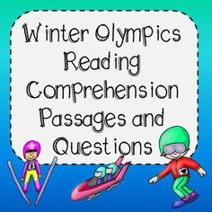 Reading Comprehension Passages and Questions - Winter Olympic Themed This resource includes 20 engaging reading comprehension passages all about the Olympics. Students are asked to read a short passage, answer questions in COMPLETE SENTENCES using evidence from the text.