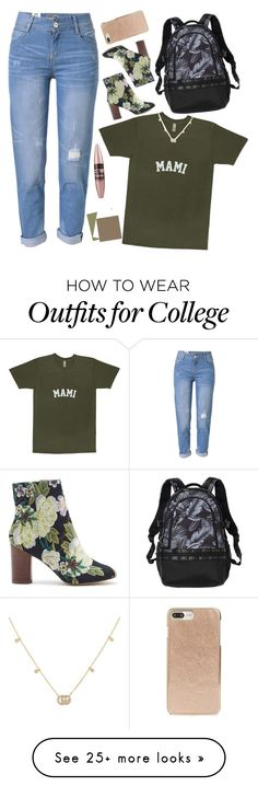 """""""#103."""" by xxxtascyon on Polyvore featuring WithChic, Sole Society, Gucci, Kate Spade and Maybelline"""