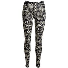 Geo Print Leggings ❤ liked on Polyvore
