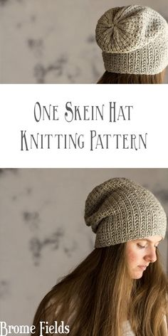 One Skein Hat Knitting Pattern : Beauty by Brome Fields skein knitting projects BEAUTY : Women's Slouchy Hat Knitting Pattern - Brome Fields Loom Knitting, Free Knitting, Knitting Patterns, Slouchy Beanie Knitting Pattern, Free Knit Shawl Patterns, Knitting Scarves, Knit Poncho, Knit Beanie, Do It Yourself