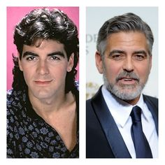 George Cloone Then Yikes! Celebrities Before And After, Celebrities Then And Now, Young Celebrities, Celebs, Hollywood Men, Hollywood Stars, Famous Men, Famous Faces, Chaplin Film