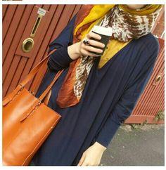 great colors! #hijab #hijabi #style #fashion