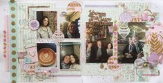 Gorgeous double page layout using FabScraps C103 Coffee Confessions Collection