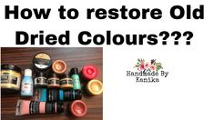 How to restore your old Dried Colours & Paints? Restore, Chalk Paint, Paint Colors, Craft Supplies, Restoration, Mixed Media, Social Media, Colours, Make It Yourself