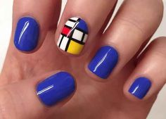 These Piet Mondrian inspired nails. 34 Pictures That Show The Beauty Of A Good Manicure