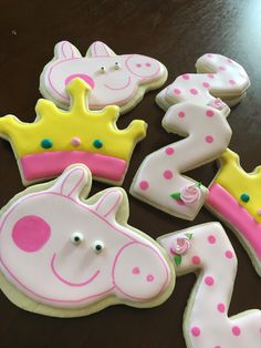 A personal favorite from my Etsy shop https://www.etsy.com/listing/498322202/peppa-pig-themed-cookies
