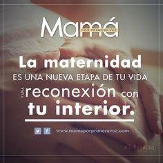 Como mujer la maternidad es una nueva etapa de tu vida y una reconexión con tu interior. #TuEscencia #Quote #Mujer #espiritual #maternidad #quote #salud #motivar #mamá #mom #Frase #espiritual #madresEmpoderadas #Interior #femenino  http://www.mamaporprimeravez.com/tu-esencia/