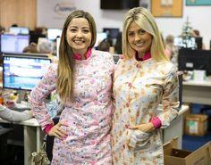 As irmãs Cherie e os Jalecos Unicórnio e Lulu Dental Cremer, Dental Uniforms, Beauty Uniforms, Pet Shop, Doctors, Leo, Blouse, Shopping, Dresses