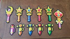 Sailor Moon Perler Pens and Wands by ManinaDesigns on Etsy