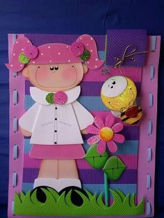muy lindo Foam Crafts, Diy And Crafts, Crafts For Kids, Paper Piecing, Princess Peach, Activities For Kids, Kindergarten, Projects To Try, Scrapbook