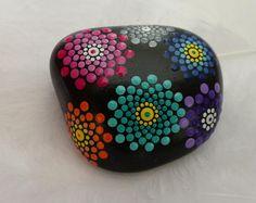 """Stone Mandala handpainted - """"Gear"""""""