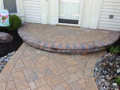 www.SharperCut.com - Waldorf, MD; new landing and walkway using Belgard Hardscapes Front Walkway, Front Steps, Front Porch, Garden Pavers, Patio Makeover, Back Patio, Landscaping Ideas, Backyard Ideas, Curb Appeal