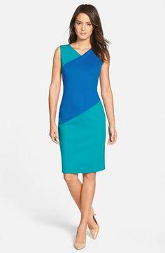 Classiques Entier® 'Sunmosa' Colorblock Ponte Dress (Regular & Petite) available at #Nordstrom