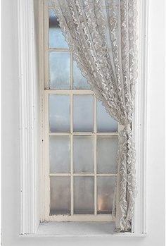 Flounce ruffle stripe curtain
