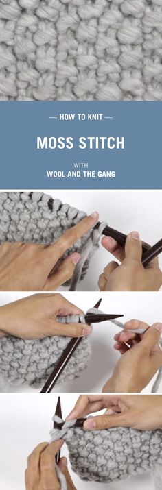 How to knit Moss Stitch with Wool and the Gang.