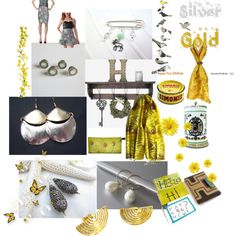 Silver and Gold by anna-recycle on Polyvore featuring modern, rustic and vintage